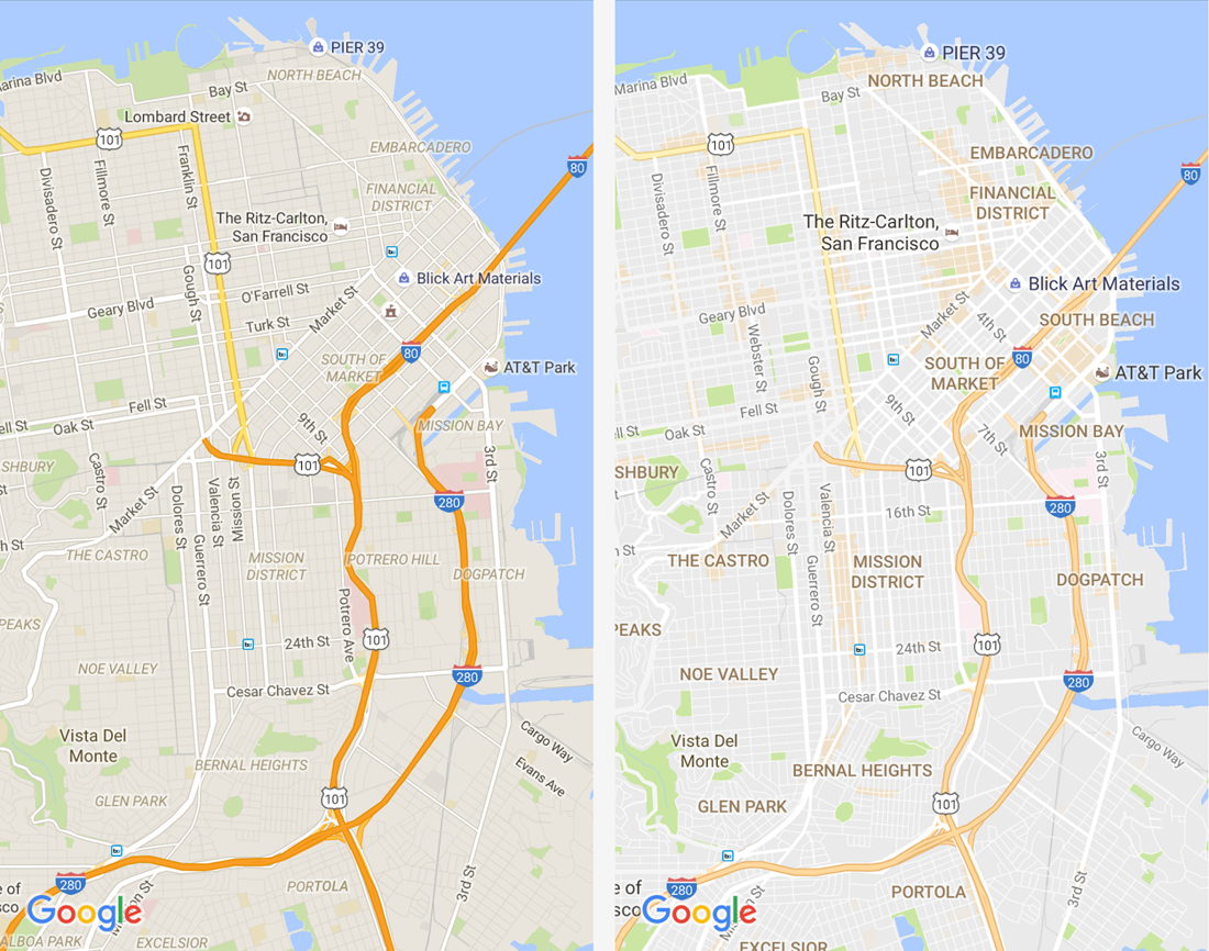 google, android, ios, google maps, desktop, refresh, redesign, maps, revamp