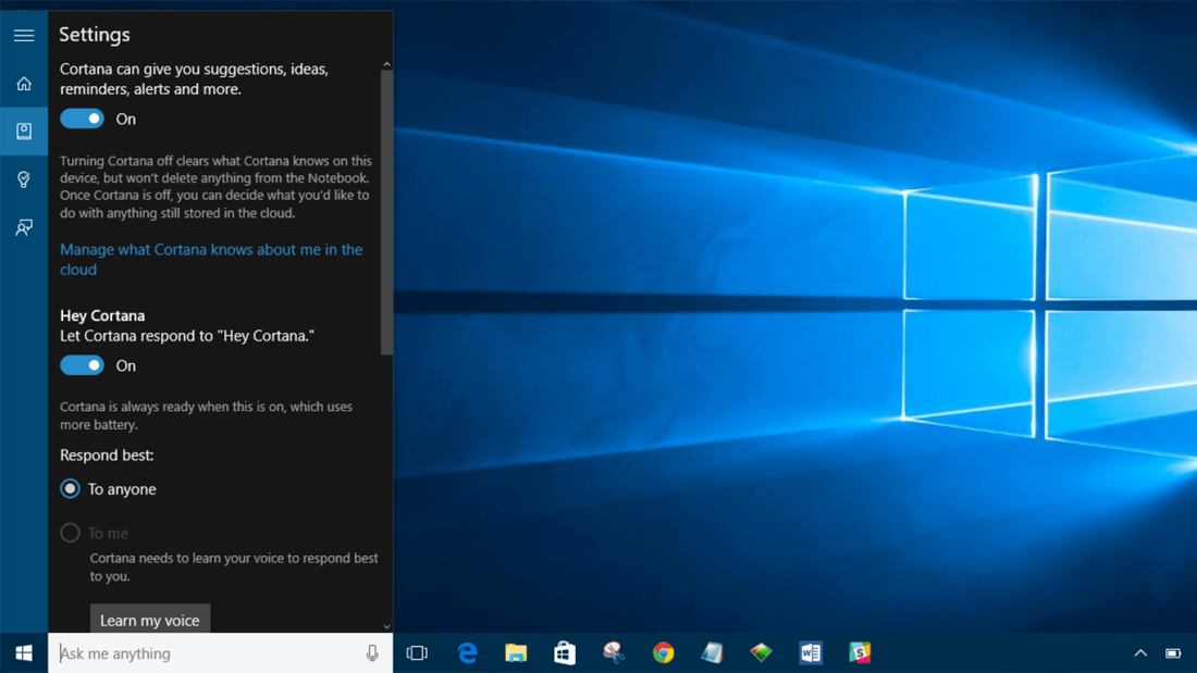 cortana, windows 10, virtual assistant, windows 10 anniversary update