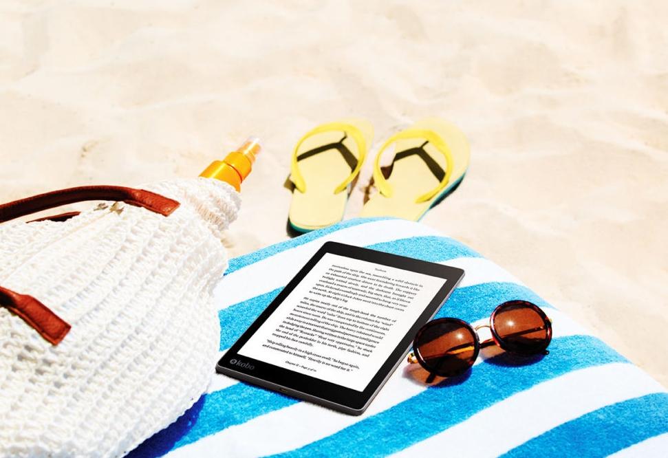 kobo, e-reader, ebook, ebooks, e-book reader, water resistant