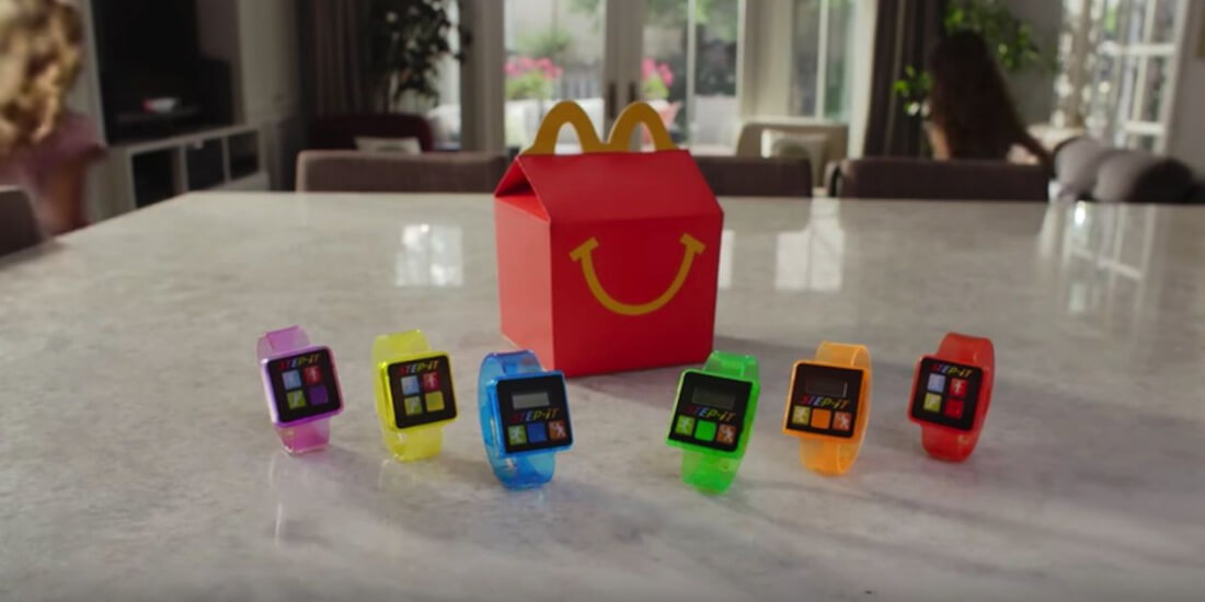 free gift, certification, happy meal, mcdonalds fitness trackers, step-it, pedometer, happy meal gift, kids wearable, skin irritations