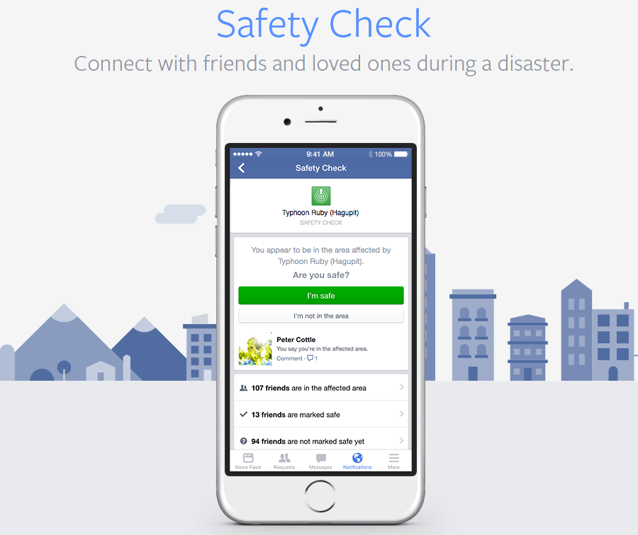facebook, mark zuckerberg, disaster, terrorism, social network, safety check