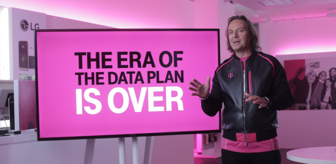 t-mobile, streaming, tethering, 4g lte, data plans, unlimited data, data plan, john legere, unlimited, t-mobile one, t-mobile one plus