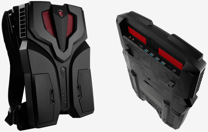 msi, virtual reality, vr, backpack, msi backpack pc