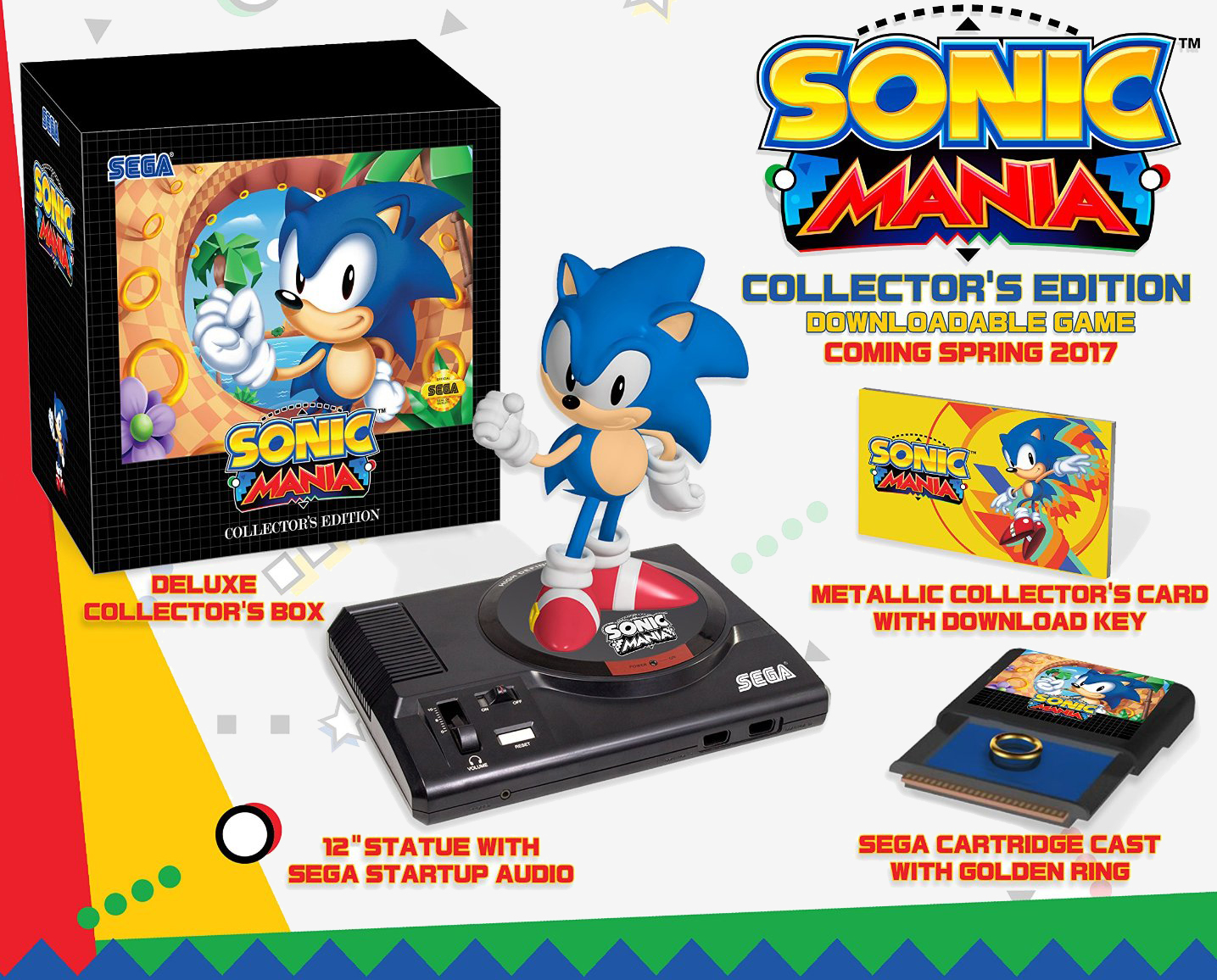 sega, bundle, sonic, pre-order, nostalgia, game streaming, sega genesis, sonic mania, sonic mania collectors edition