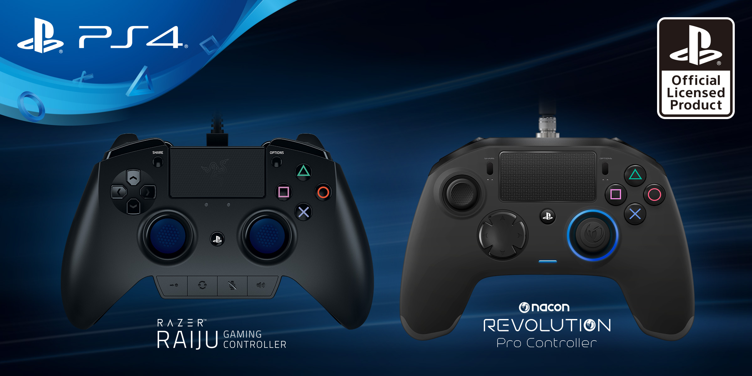 sony, microsoft, razer, gamepad, controller, playstation 4, xbox one, xbox elite, nacon, razer raiju, nacon revolution