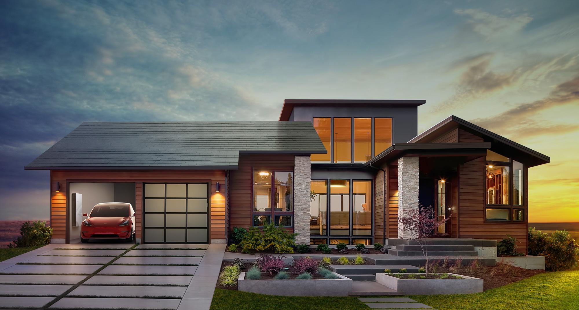 Solarcity Roof Tiles >> Tesla announces plans for solar roof, second-gen ...