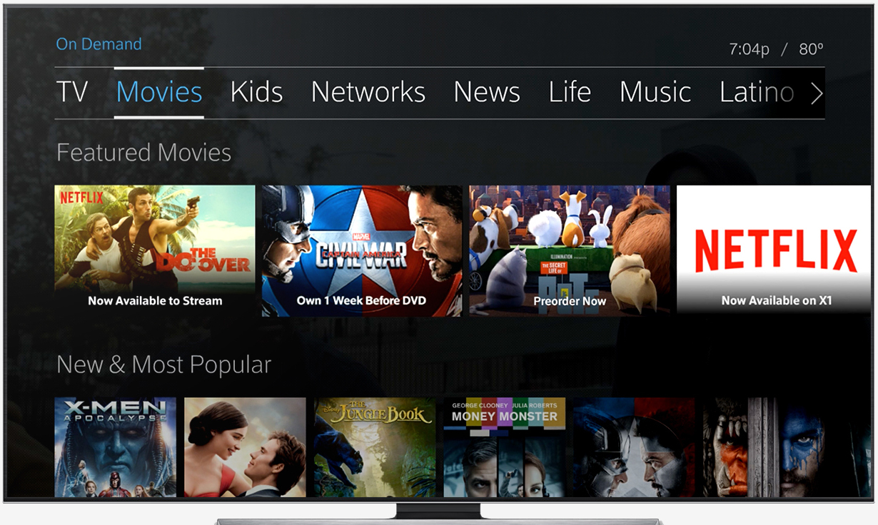 netflix, comcast, xfinity, cord cutting, streaming video, x1 set-top box