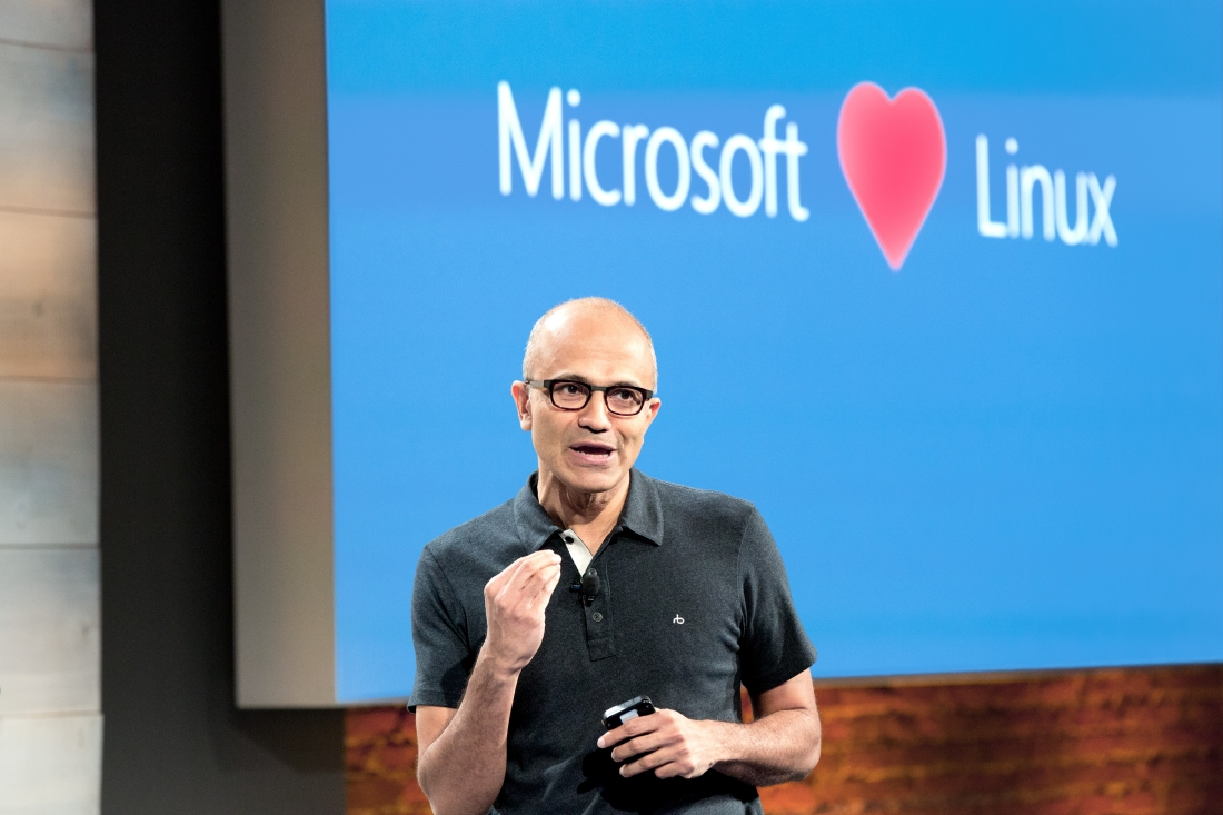 microsoft, linux, linux foundation, open source, satya nadella, visual studio, mac