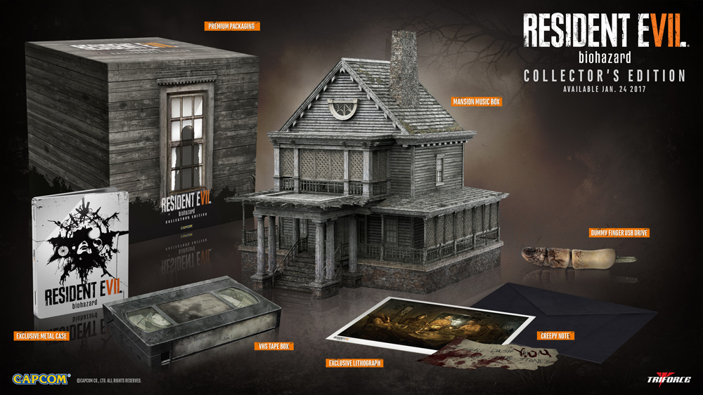 gamestop, resident evil, capcom, collectors edition, resident evil 7