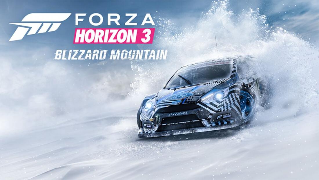 microsoft, expansion pack, racing, turn 10 studios, forza horizon 3, blizzard mountain
