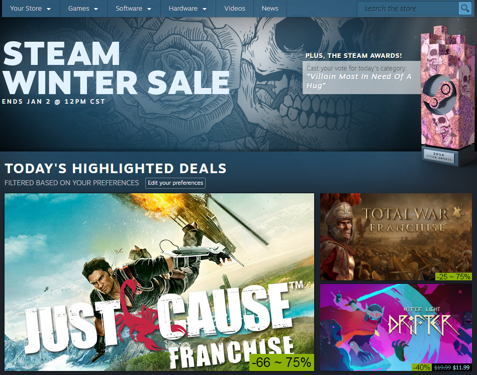 valve, steam, sale, steam winter sale