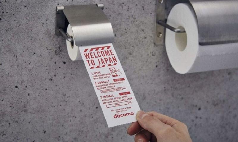japan, smatphone toilet roll, hygiene