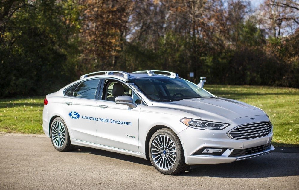 ford, autonomous cars, ces 2017, ford fusion hybrid