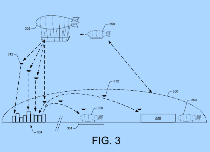 Amazon Patents a Floating Drone Warehouse