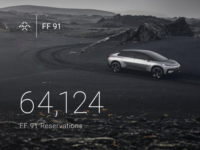 ces, electric car, faraday future, ces 2017