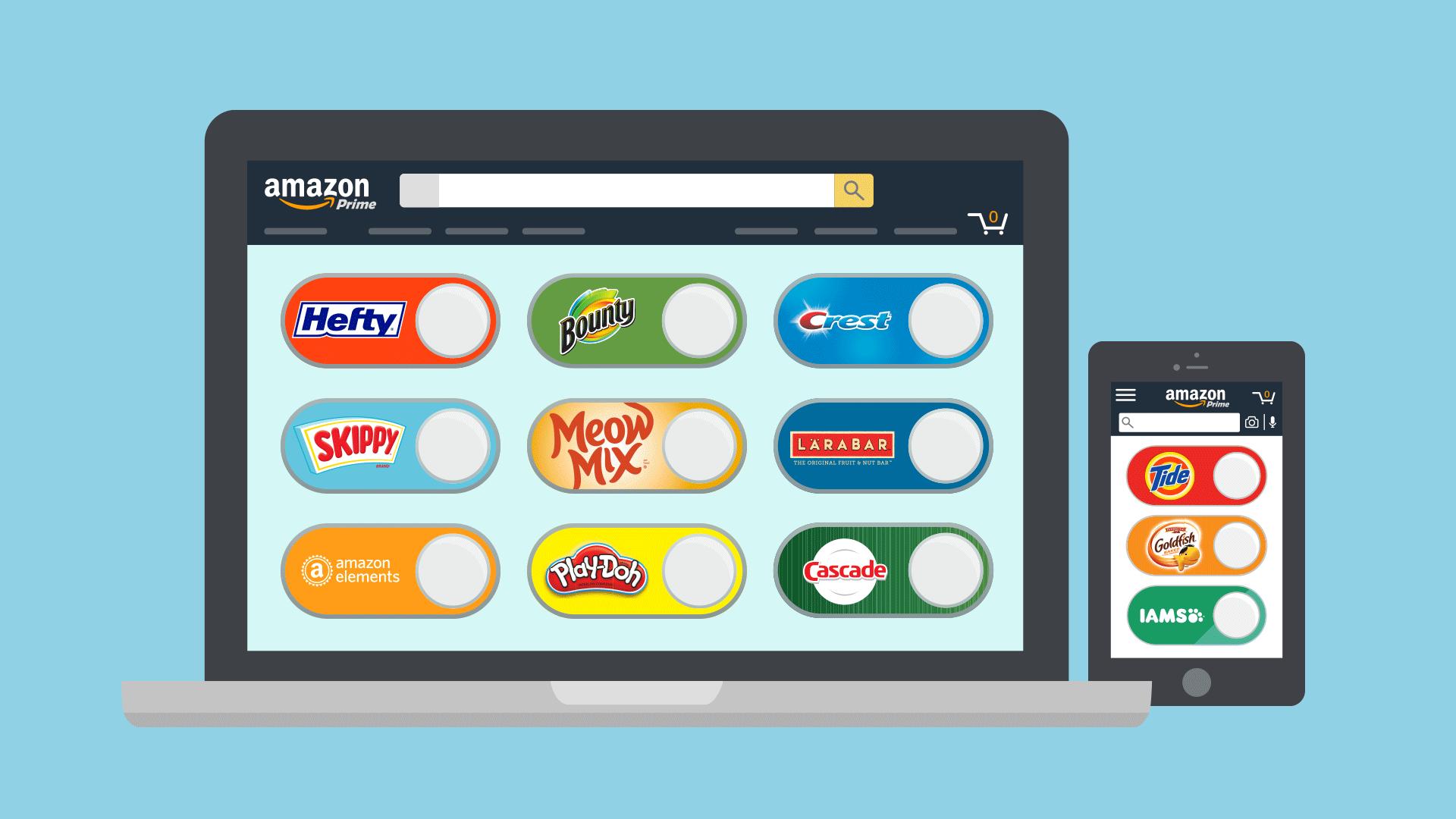amazon, ecommerce, retail, dash button