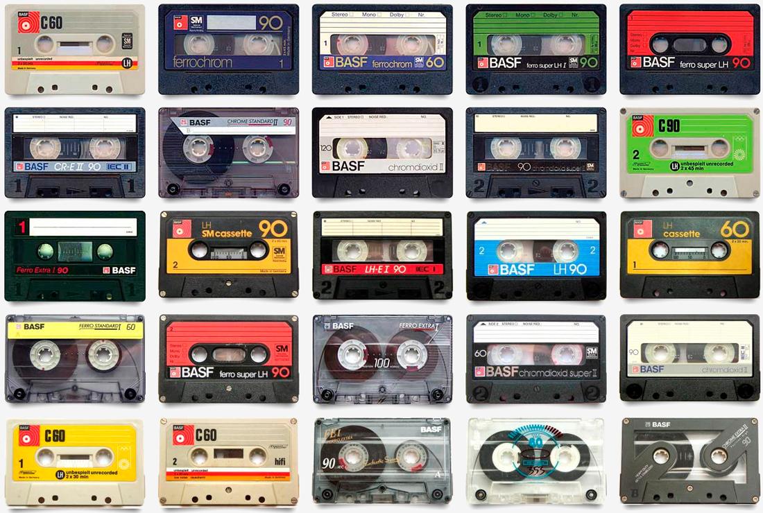 music, vinyl, cassette tape