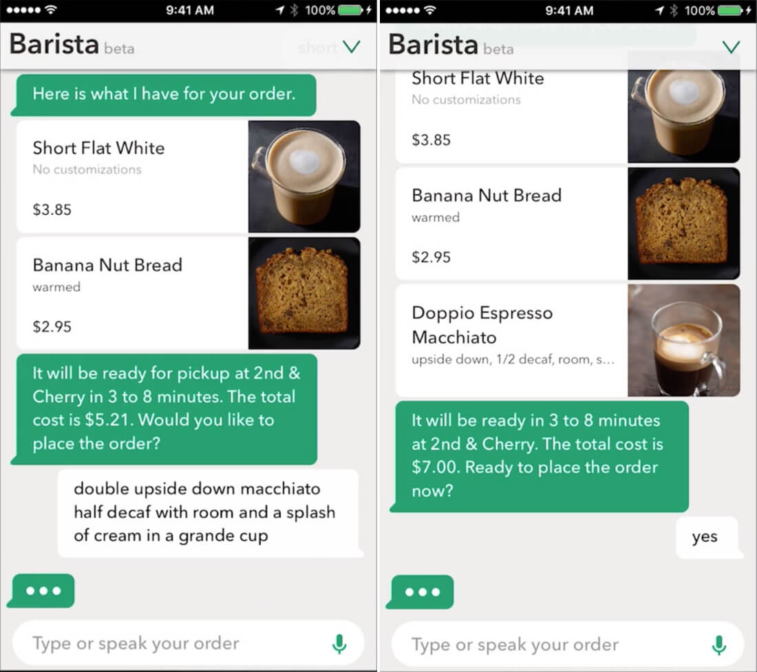 starbucks, voice assistant