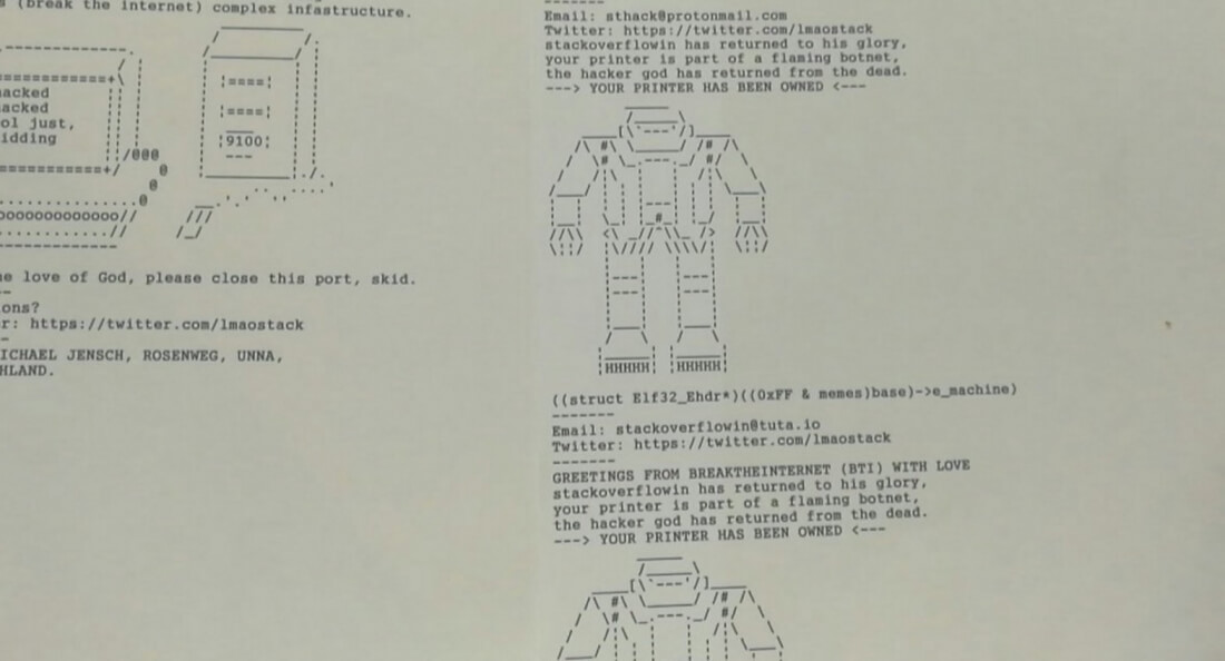 hacking, printer, print security
