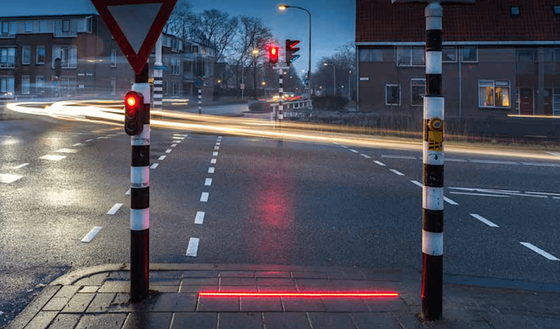 sidewalk lights, holland