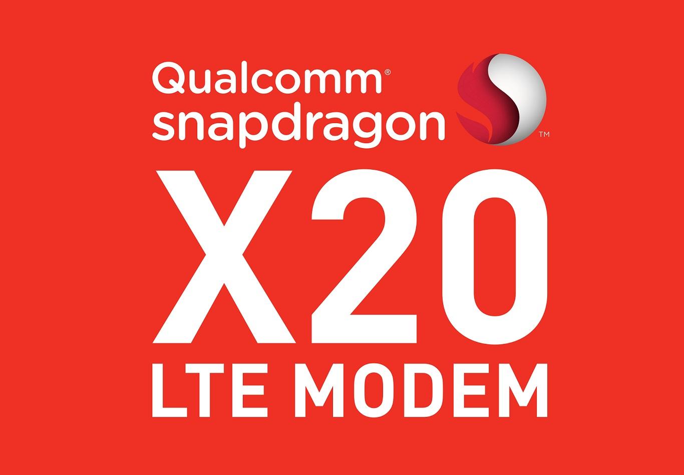 qualcomm, modem, snapdragon x20, lte modem