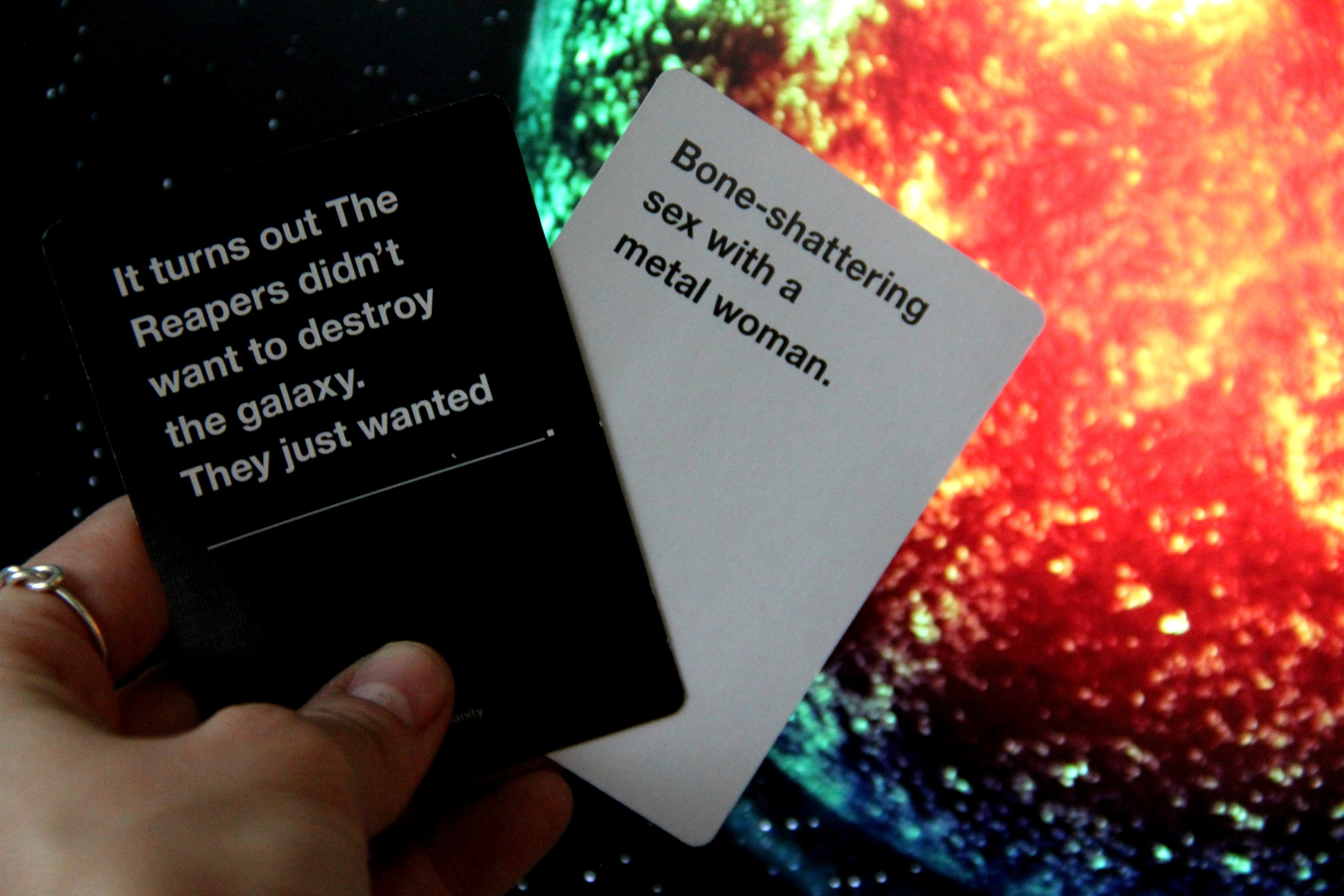 mass effect, bioware, cards against humanity