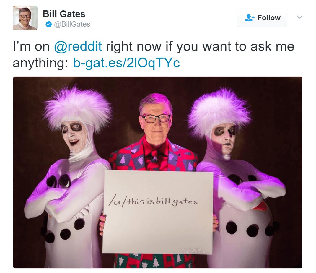 microsoft, reddit, bill gates, reddit ama