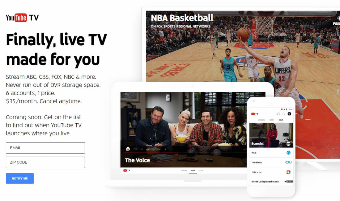 google, youtube, streaming, tv, tv streaming, cable tv