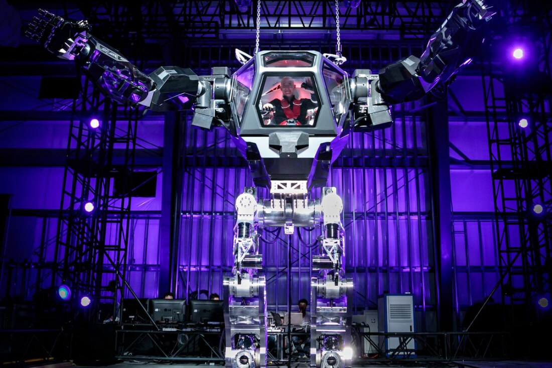 This is Jeff Bezos riding a giant robot
