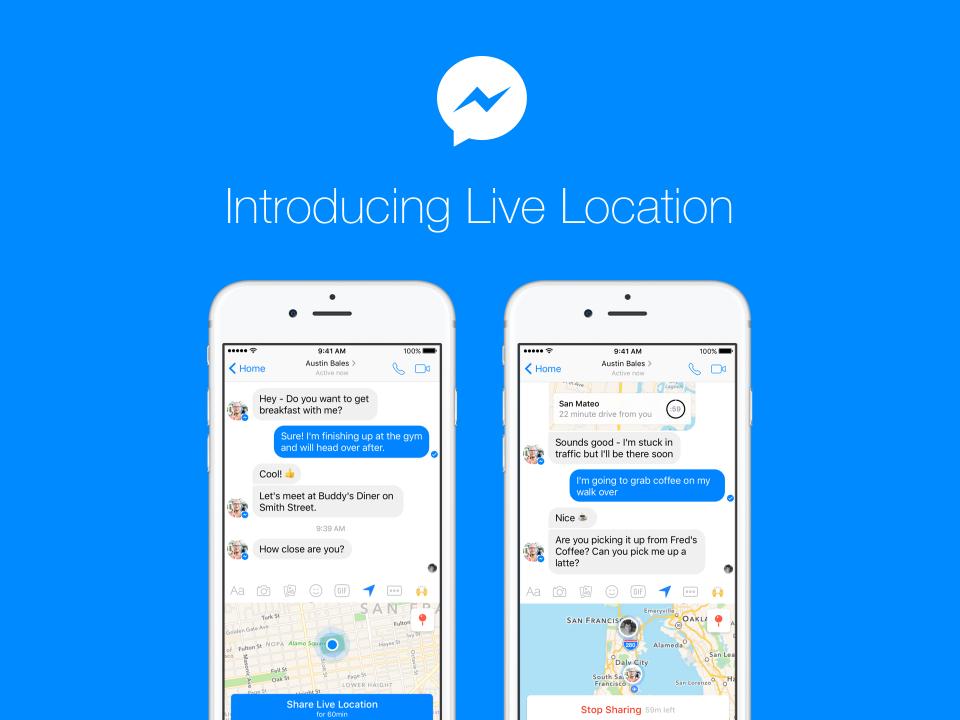 facebook, messenger, live location, location sharing