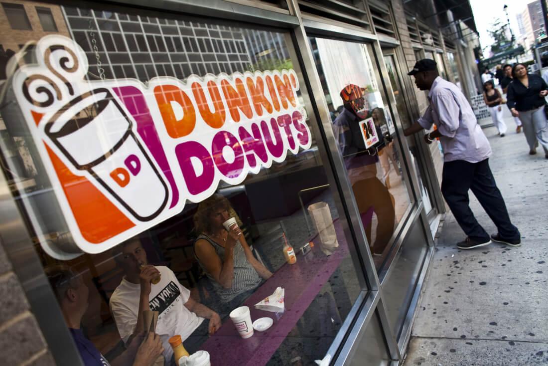 waze, dunkin donuts
