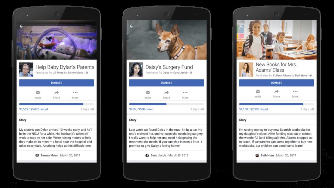facebook, gofundme, fundraising