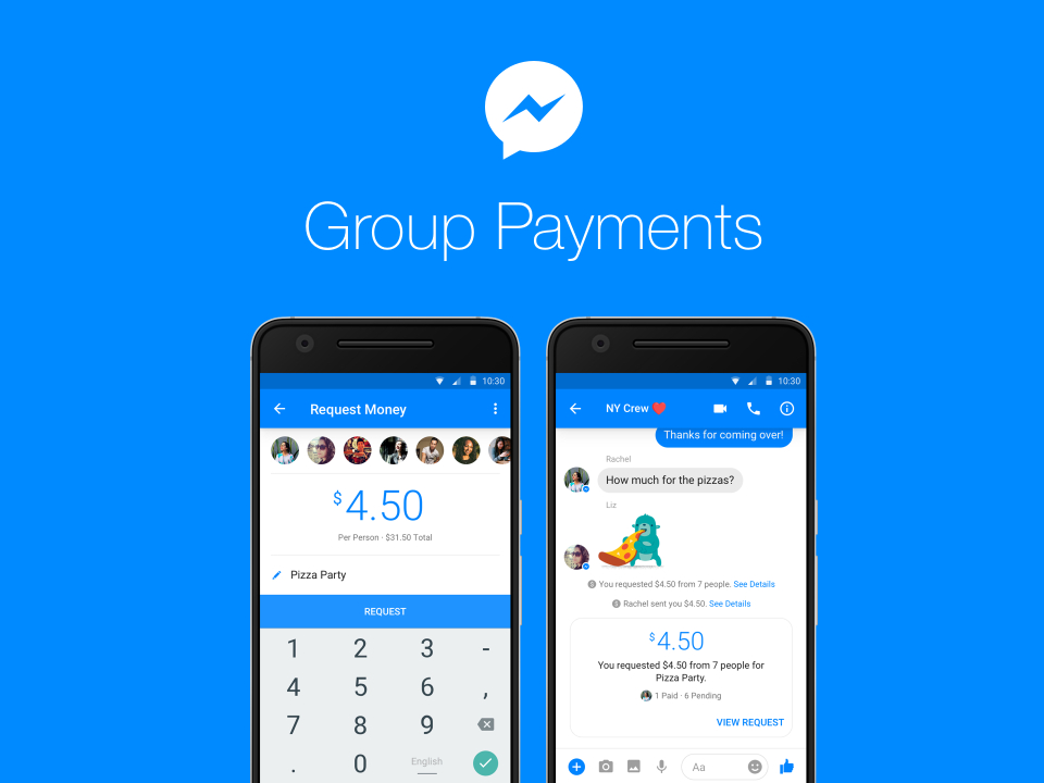 facebook, facebook messenger, payments, group payments