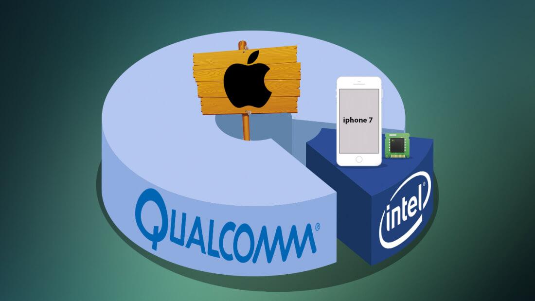 apple, intel, qualcomm, lawsuit, chipset, patent, iphone 7