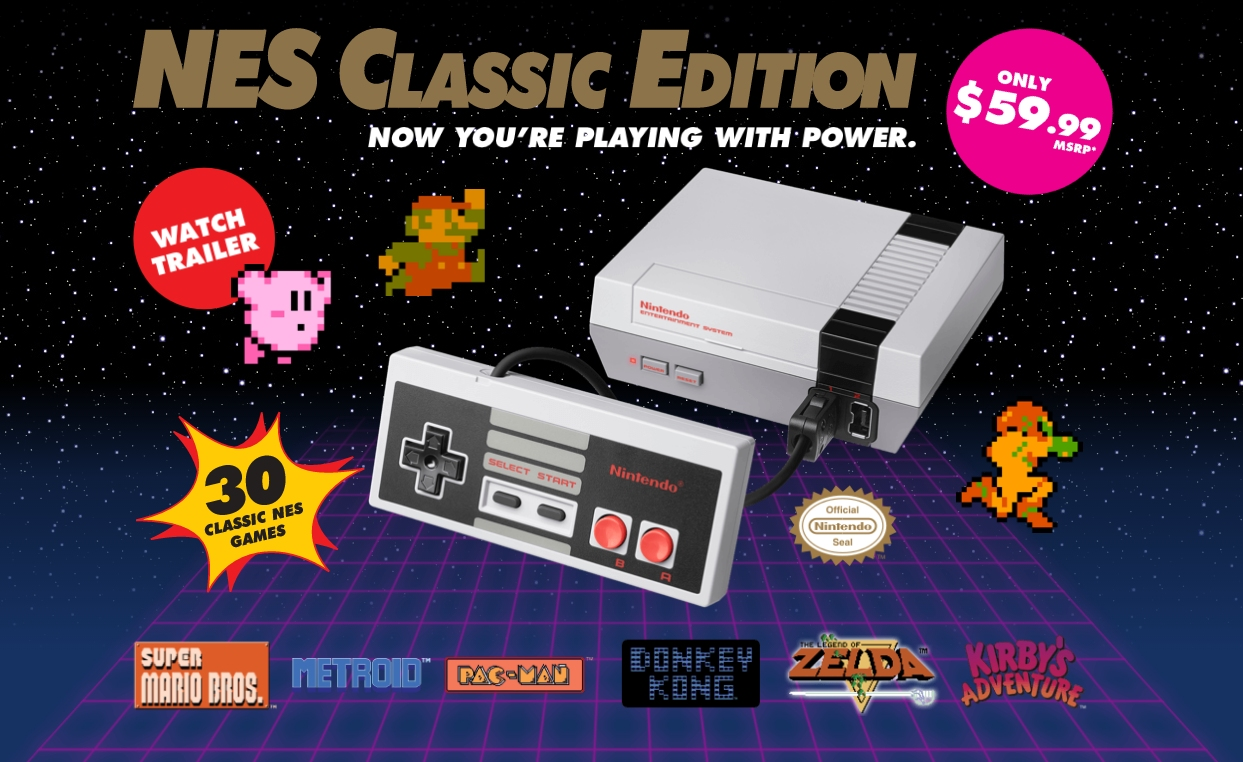 nintendo, discontinued, nostalgia, retro gaming, nes classic edition