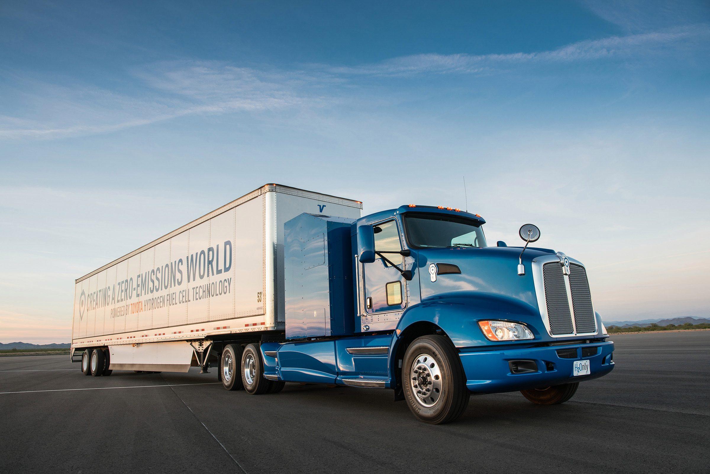 hydrogen, toyota, fuel cells, toyota mirai, semi truck, project portal