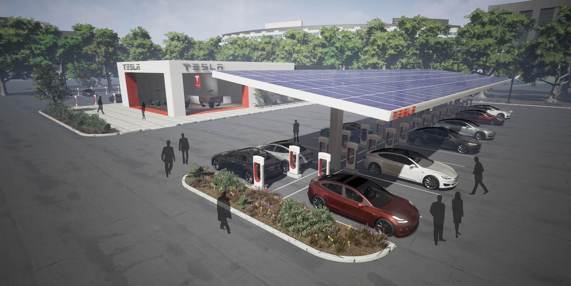 tesla, electric car, tesla supercharger