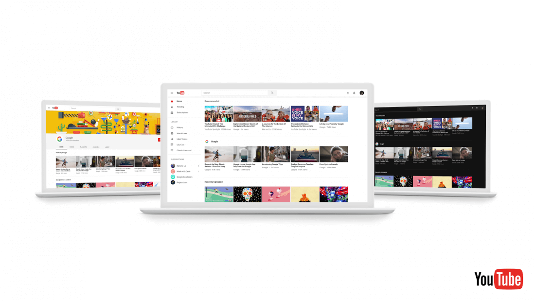 youtube, material design