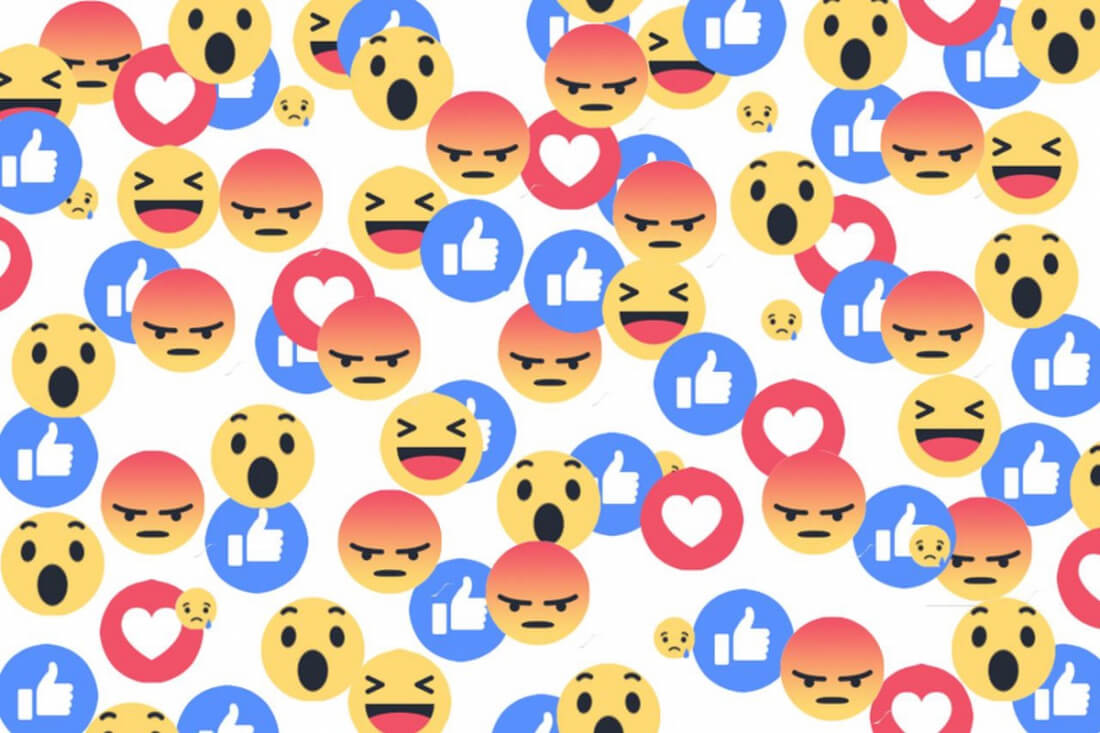 facebook, reactions