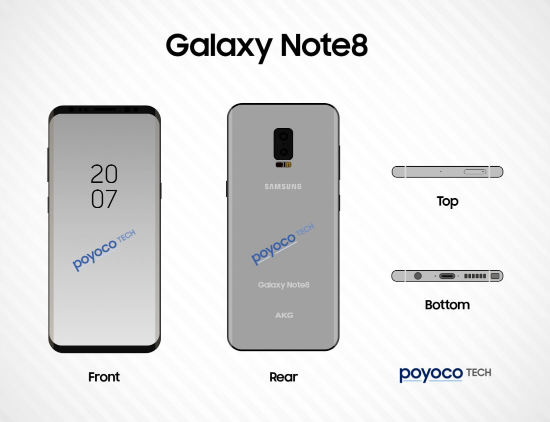 samsung, leak, note 8