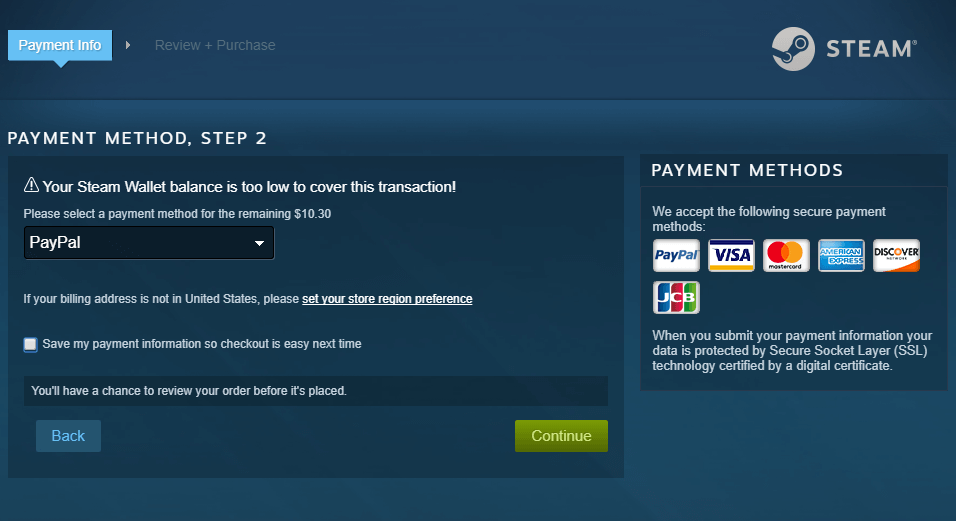 does steam accept bitcoins