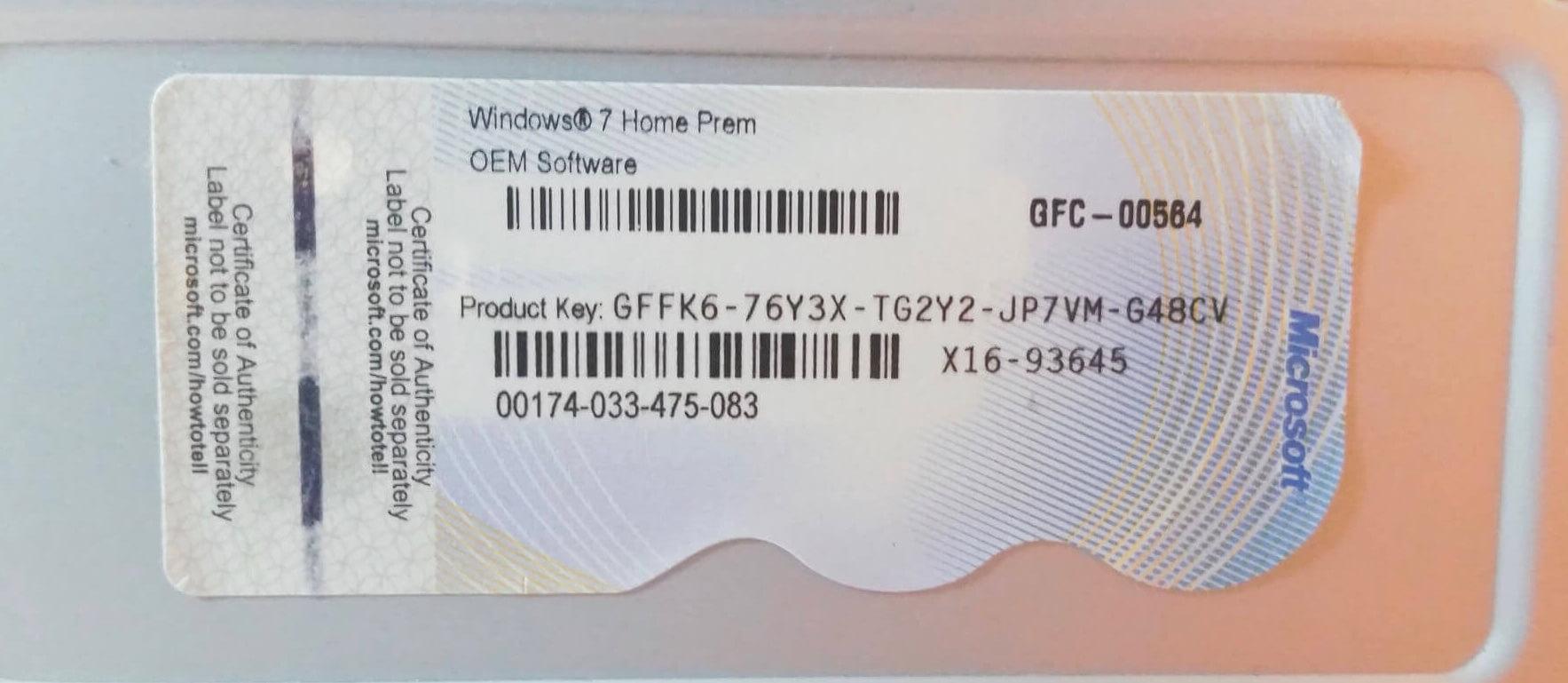 find oem product key windows 7