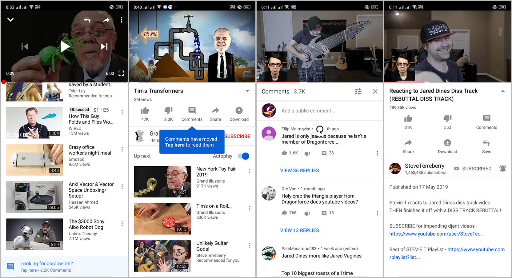 YouTube Testing Interface Tweak to Hide Comments Section on Mobile App