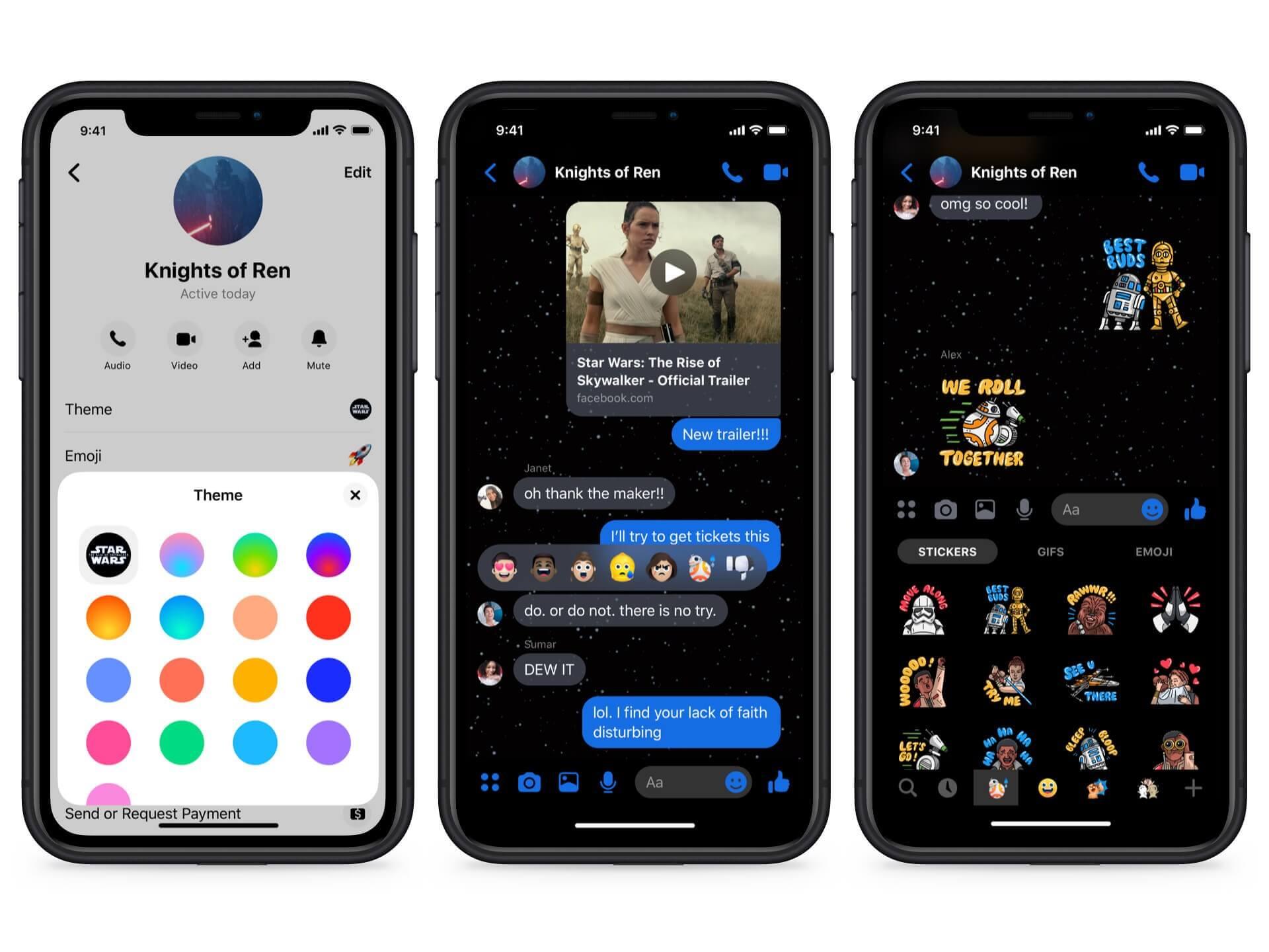Facebook S Messenger Now Has A Star Wars Themed Dark Mode