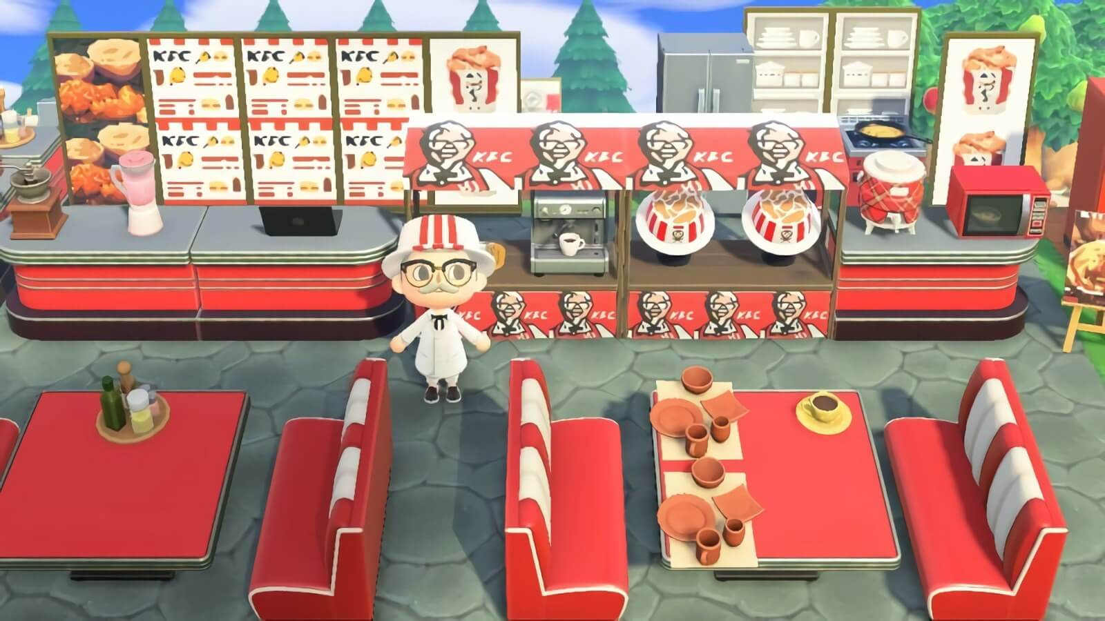 Kfc Now Has A Restaurant In Animal Crossing New Horizons