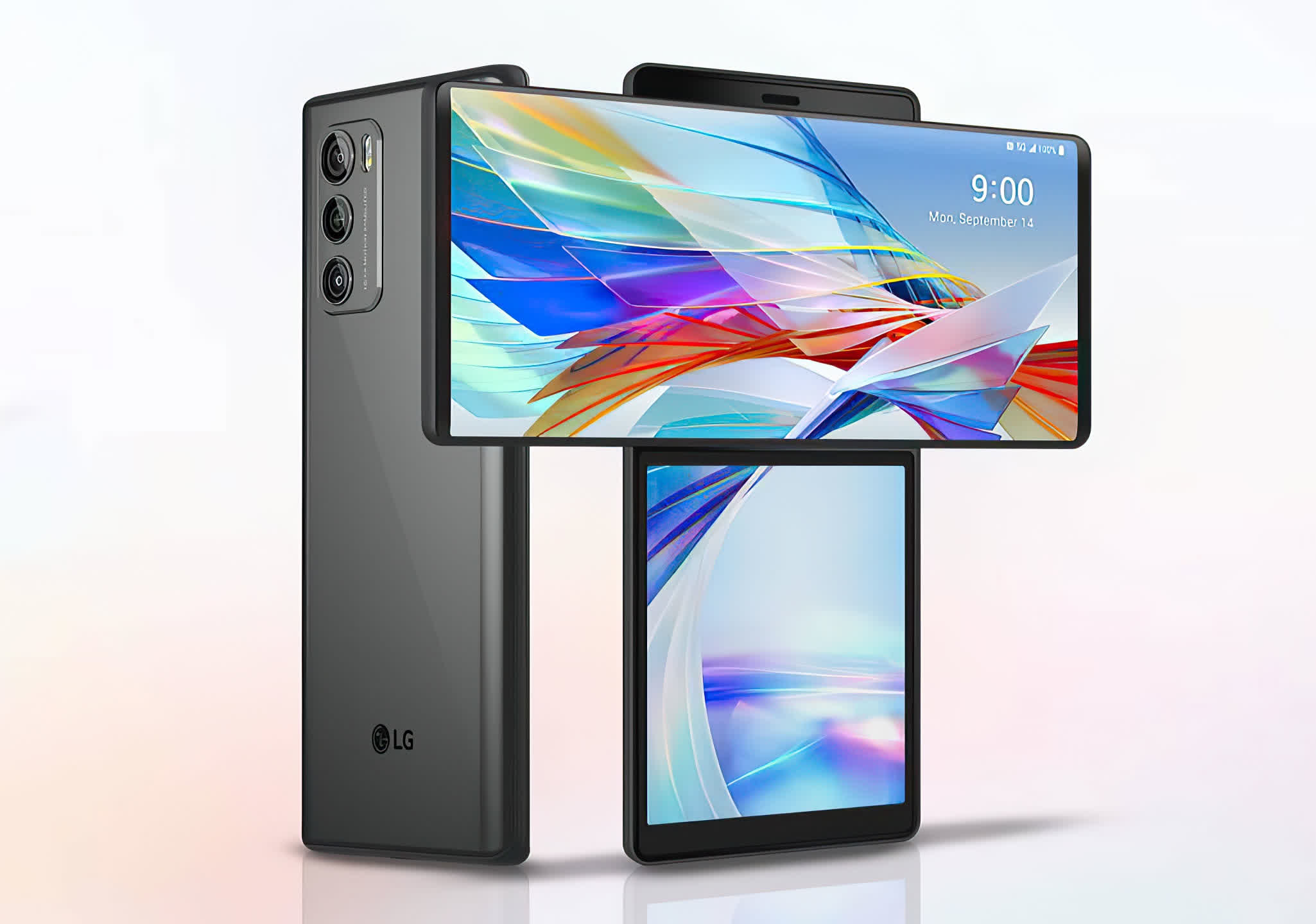 LG's Wing smartphone features a swivelling display