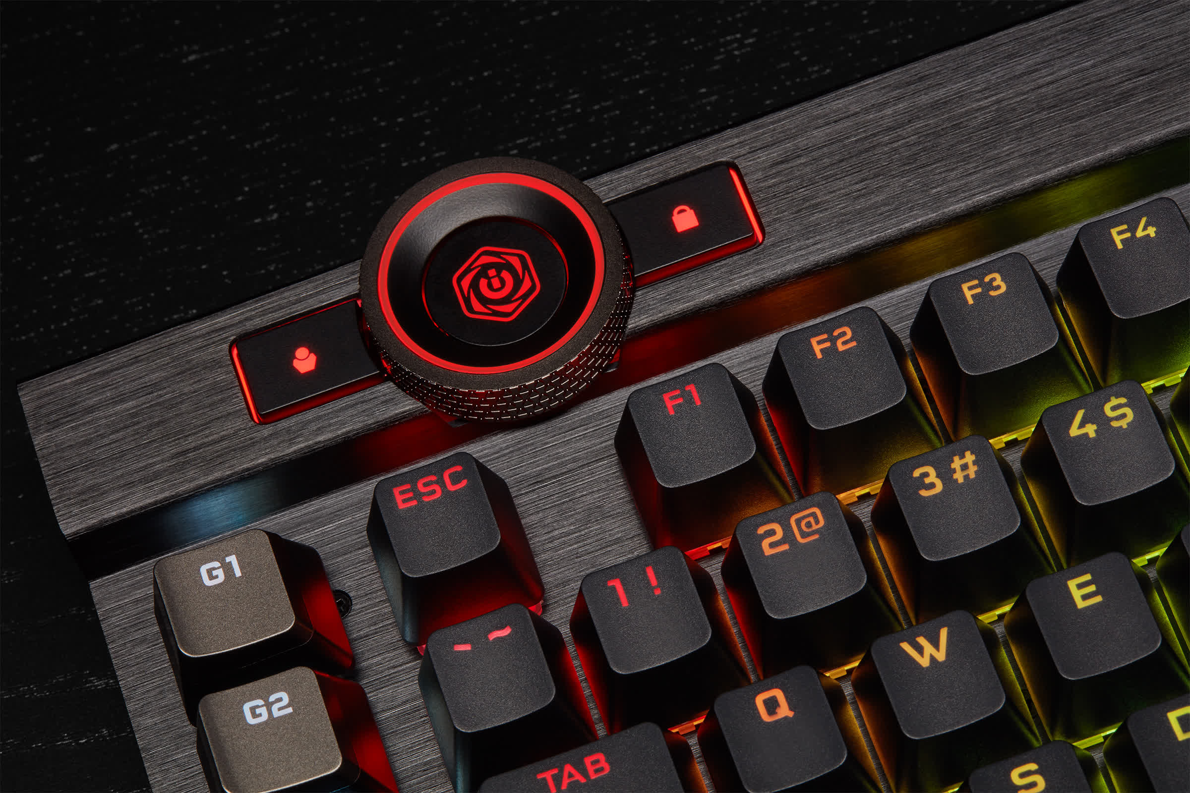Corsair's K100 RGB mechanical gaming keyboard is loaded with bells and  whistles