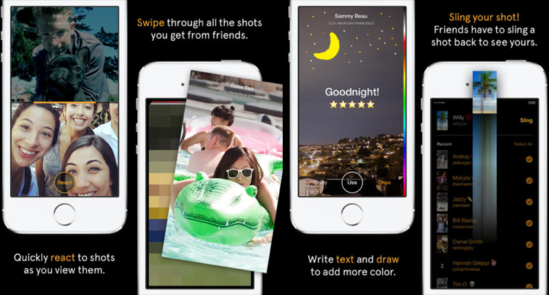 facebook, launch, snapchat, messaging app, slingshot