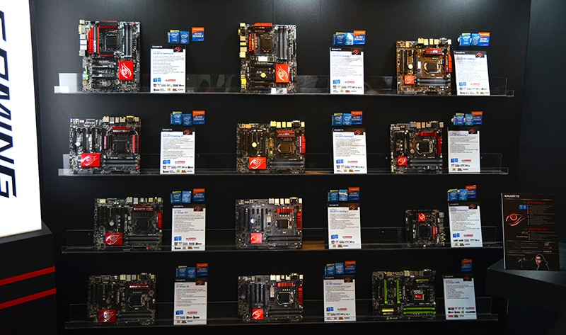 gigabyte, motherboard, computex, sata express, z97, computex 2014, waterforce