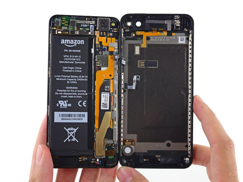 amazon, smartphone, teardown, ifixit, fire phone